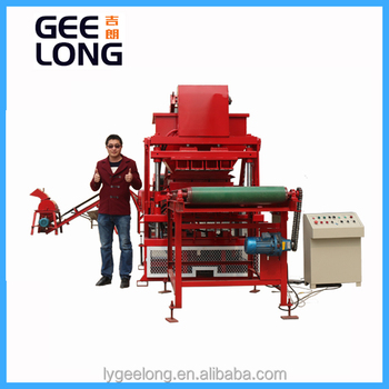clay brick making machine GLF4-10 interlocking brick machine price