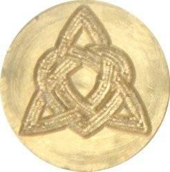 """Heart Knot 3/4"""" diameter brass Celtic Wax Seal Stamp"""
