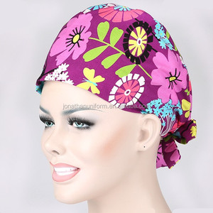 Fashion printed surgical scrub cap operation hat
