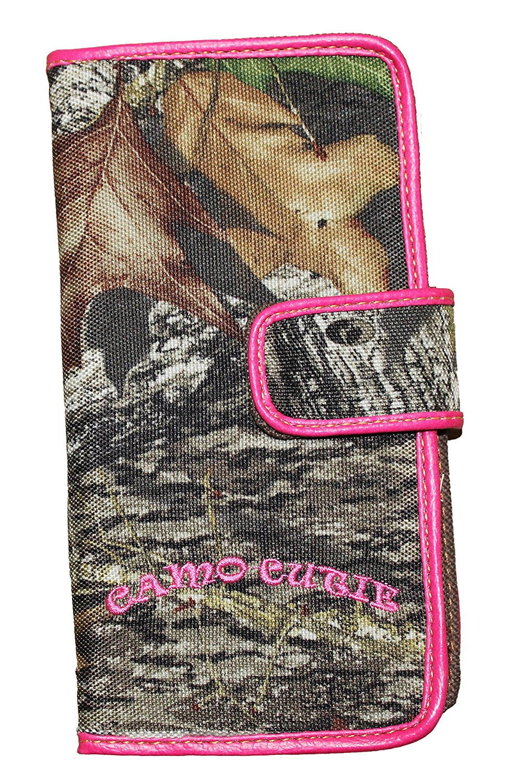 Ladies Mossy Oak Bi-Fold Camo Wallet Women's Pink Camo Wallet