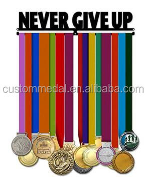 Never Give Up Medal hanger medal display carrier made of <strong>iron</strong>