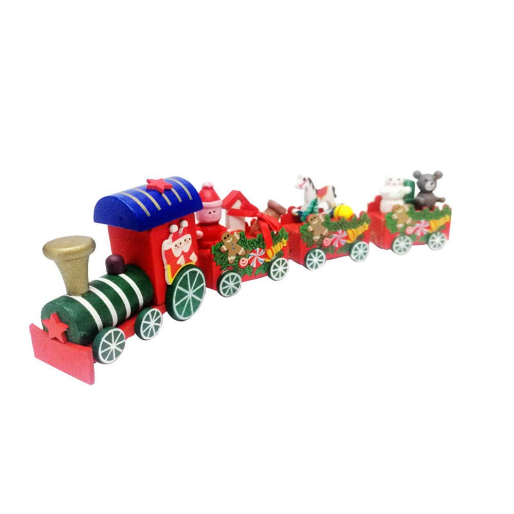 Euone  Christmas Clearance , Xmas Wooden Train Kids Favor Hanging Ornament Tree Decorations