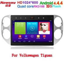 newsmy carpad3 10.1inch Android 4.4.4 Car DVD For VW Tiguan HD 1024*600 with Canbus Quad Core CPU In Dash PC