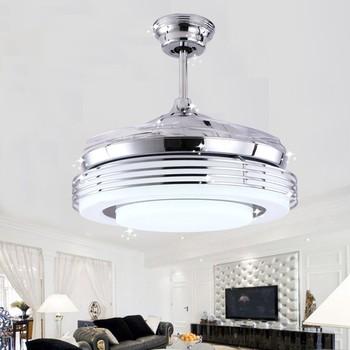 special discount silver ceiling fan light remote control ceiling fan light dining room light