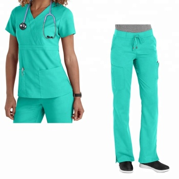 Breathable material for hospital nurse staff surgical uniform