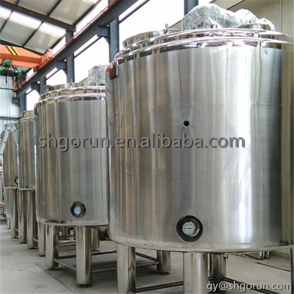 Electric heating mixing tank with top entry agitator