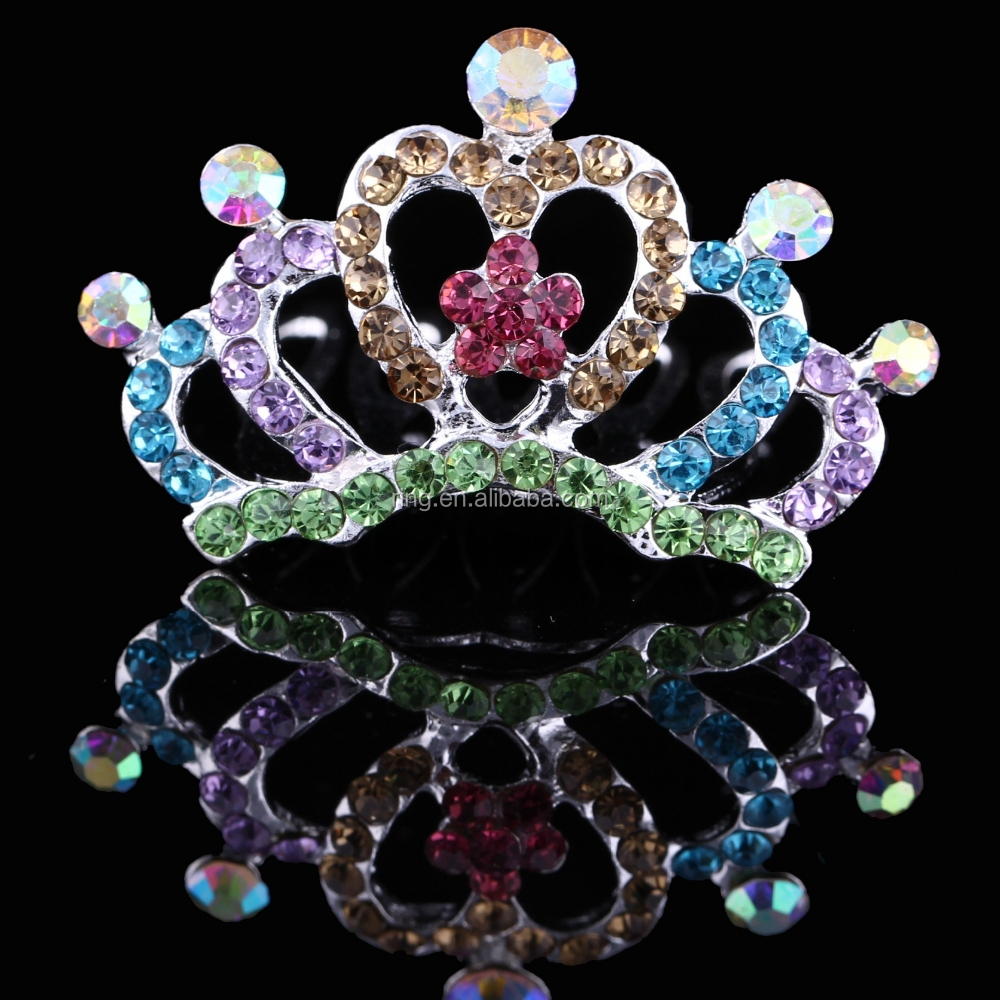 Multicolor Love Flower Crown Korean Style Children Tiara