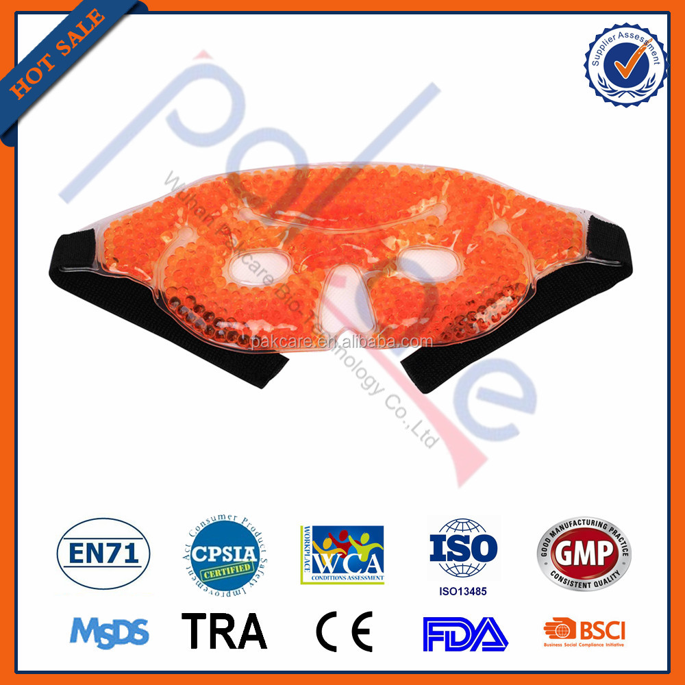 PVC gel beads mask for puffy eyes / ice bag ice packs OEM gel beads eye mask hot cold pack gel beads ice pack