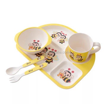 fashion kids dinner setchildren bamboo fiber bamboo melamine platehigh quality  sc 1 st  Alibaba & Fashion Kids Dinner SetChildren Bamboo Fiber Bamboo Melamine Plate ...