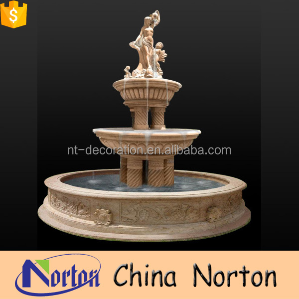 Modern design European style three layers naked lady fountain for sale NTMF-SA056L