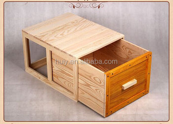 Unfinished Wood Storage Trunk Wooden Chest For Baby Toys