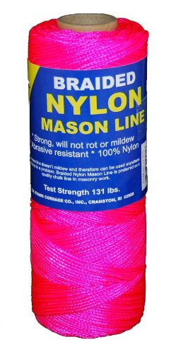 T.W . Evans Cordage 12-515 Number-1 Braided Nylon Mason, 500-Feet, Pink
