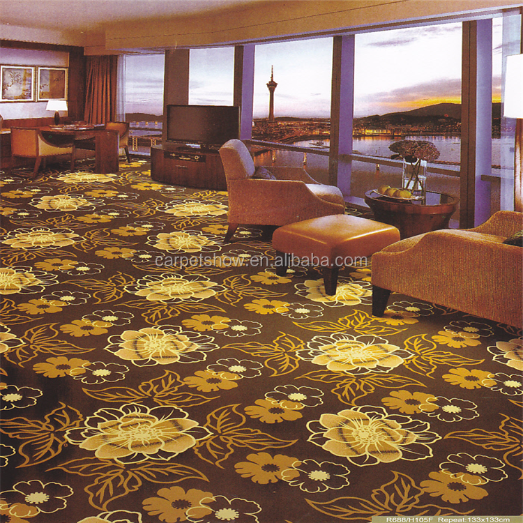 80%wool 20% nylon fireproof hotel Axminster carpet