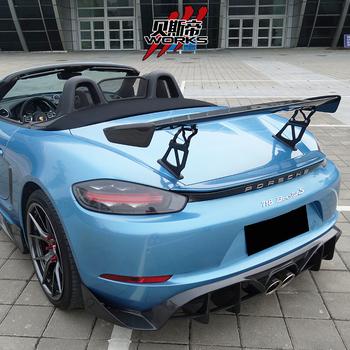 Darwinpro Stuttmate Style Carbon Fiber Trunk Spoiler Wings For 718 Cayman Boxster Buy Darwinpro Carbon Rear Spoiler For 718 Bsd Car Bumper Body
