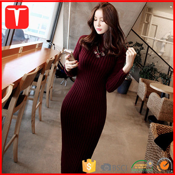 Sweater Dress Tight Sexy Women Knitted tQrBdCshx