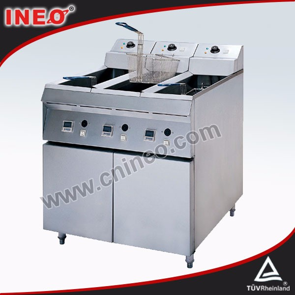 3x24L Three Tanks kfc fried chicken machine/onion frying machine
