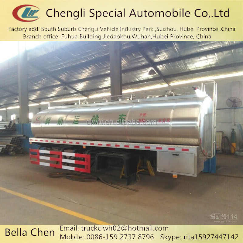 6000-8000L DONGFENG stainless steel milk truck tank