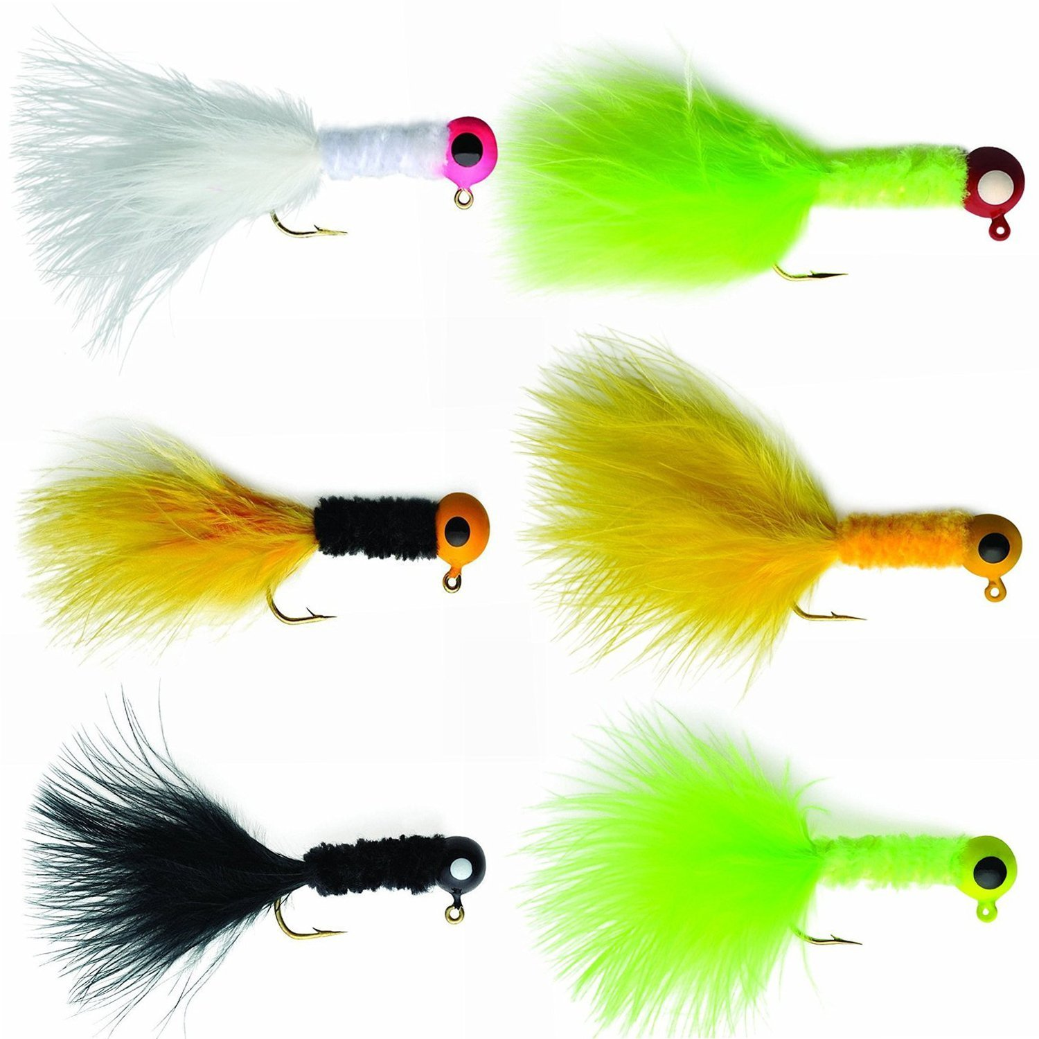Fishing Crappie Jigs Hard Lure Accessory Marabou Bass Pike Walleye Jigs with for