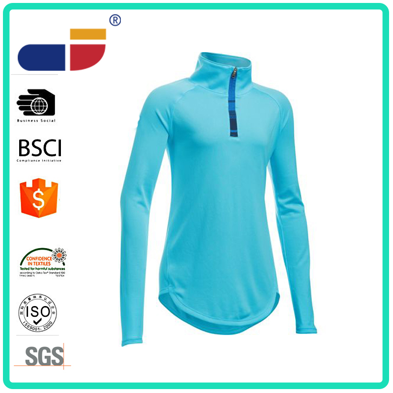 Aqua long sleeves slim fitted yoga clothes sports wear women