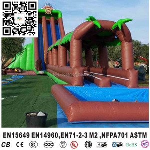 Big water slides for sale used commercial jungle water slides inflatable water slide