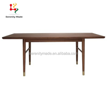 Customized cafe bar restaurant furniture latest designs of wood dining tables for sale