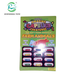 High quality amazing growing capsule for kids,farm animal toy amazing capsule