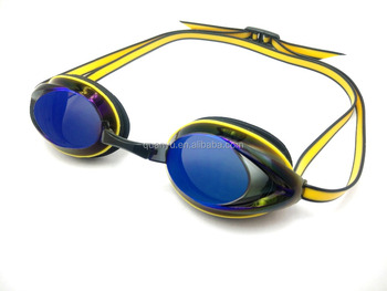 6a1e3d3757 Silicone Precrption Mirrored Racing Swimming Goggles For Adult