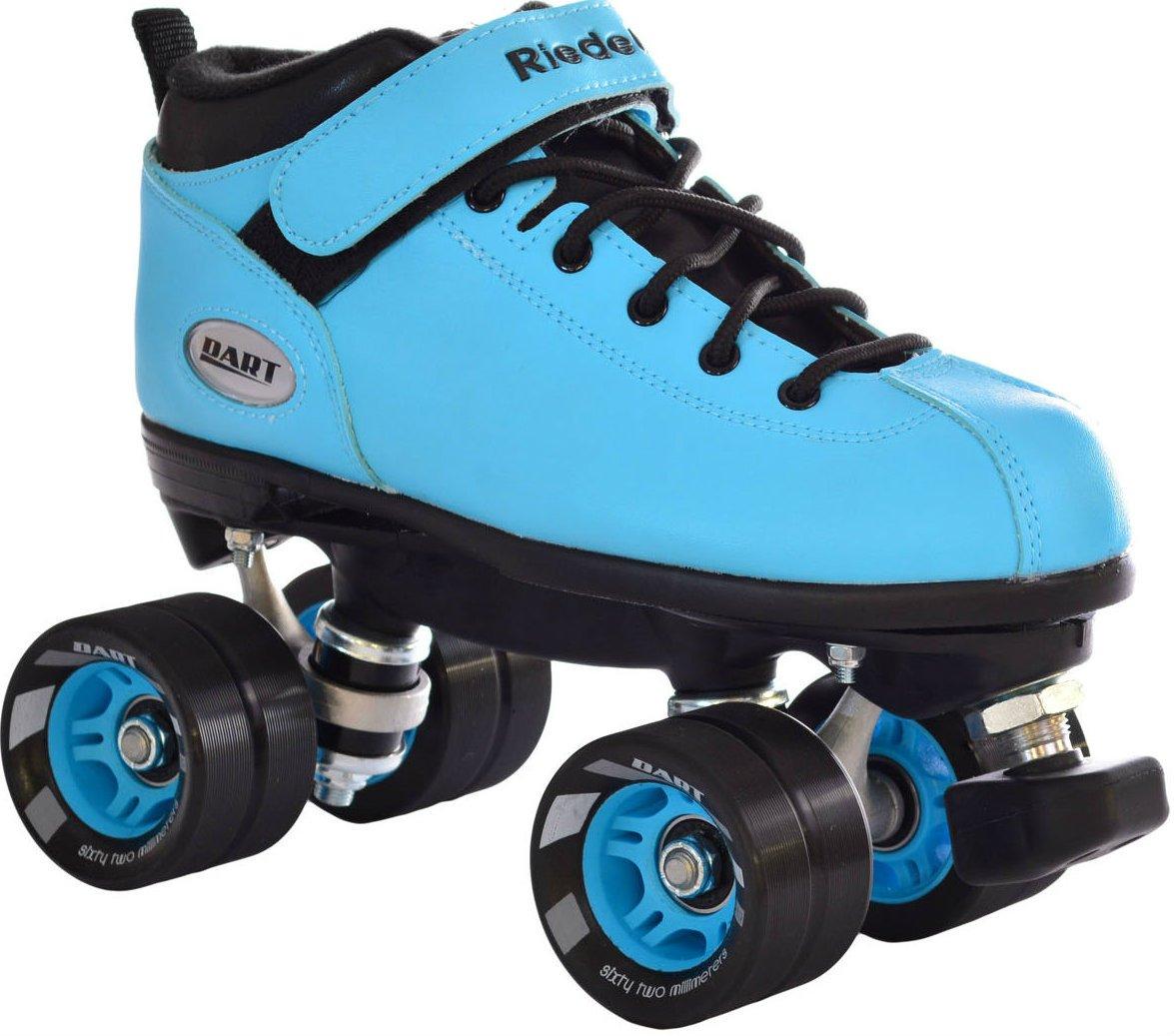 Riedell Dart Ice Blue Quad Roller Derby Speed Skates