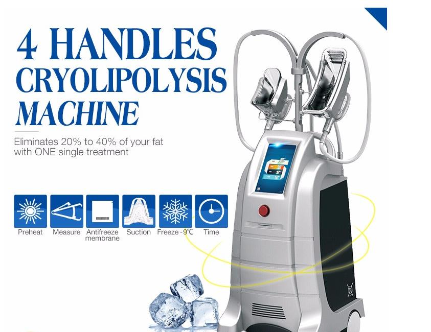 liposuction fat freezing slimming cryolipolysis machine for sale 4 handles