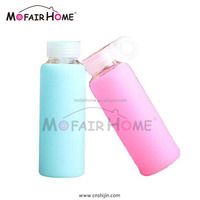 New Product Cheap Custom-Made Glass Drinking Bottles With Silicone Cover