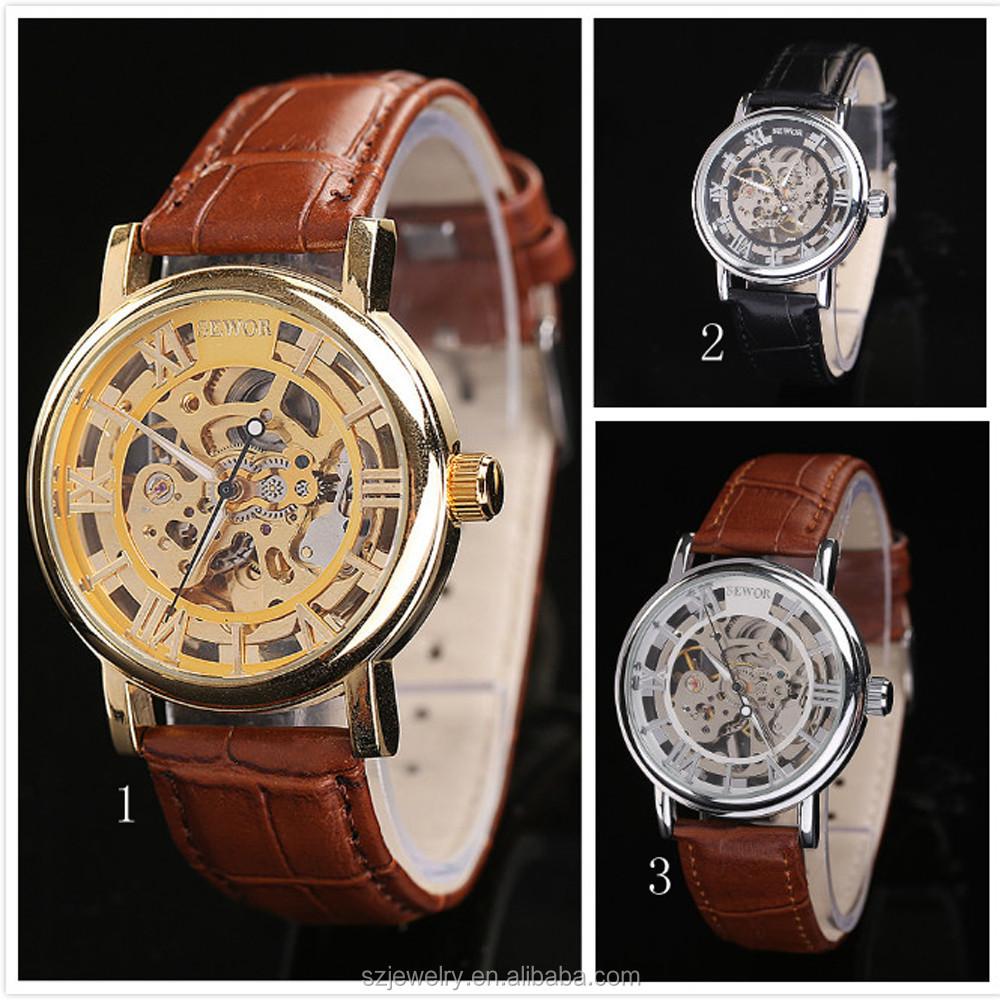 b220b4290a0c Alta calidad venta al por mayor reloj hombre mecanico de marca Sewor relojes  automaticos suizos baratos