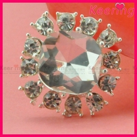 New fashion hot selling rhinestone acrylic button WBK-1345