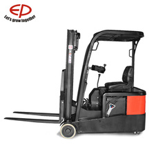 China EP 1.0T cheap small electric new condition three PU wheel van manual hand hydraulic stacker forklift