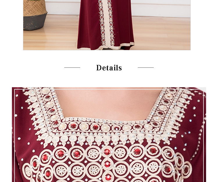 Woman Clothing Dress Lady Skirt Embroidered skirt  Wholesale Robe De Mariage  Abaya Designs Dubai Pictures