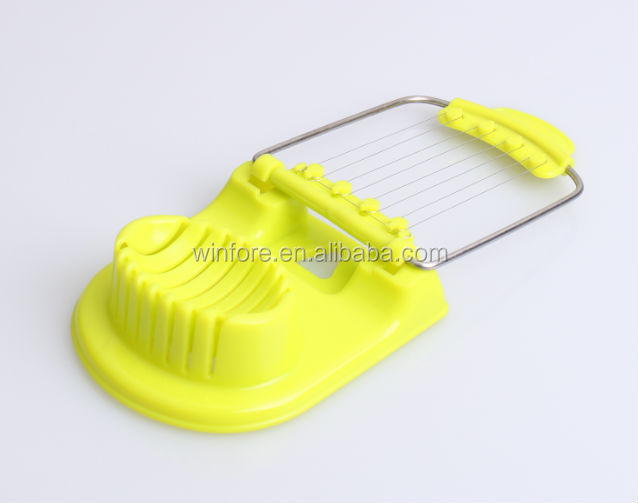 Best selling plastic kitchen tools egg cutter egg slicer