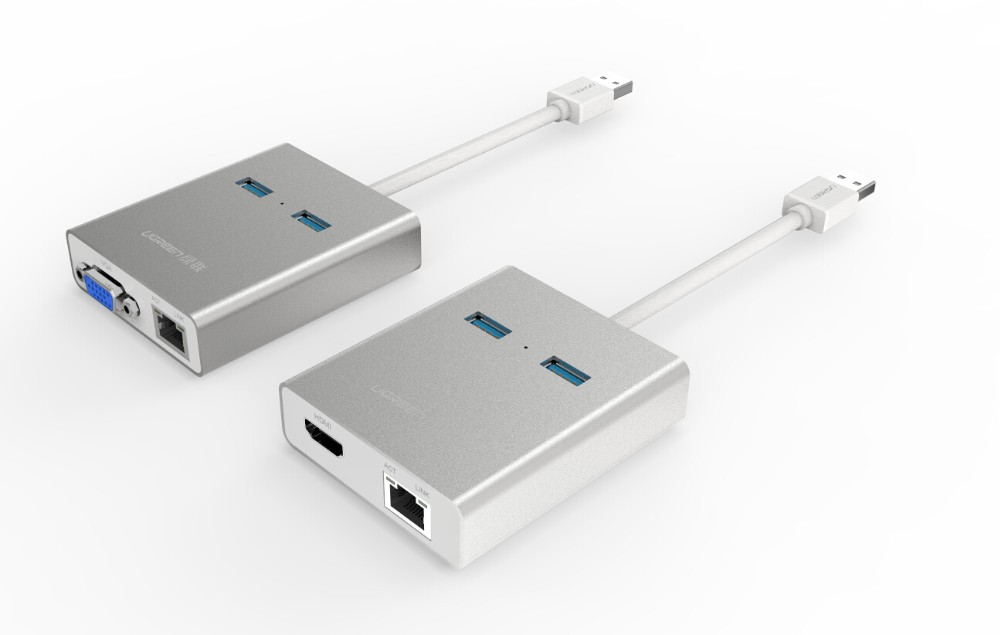 USB 3.0 USB-VGA-3500USB to VGA Adapter for Multiple Displays up to 1920x0x1080 / 1600x1200 Each (DisplayLink DL-3500Chip)