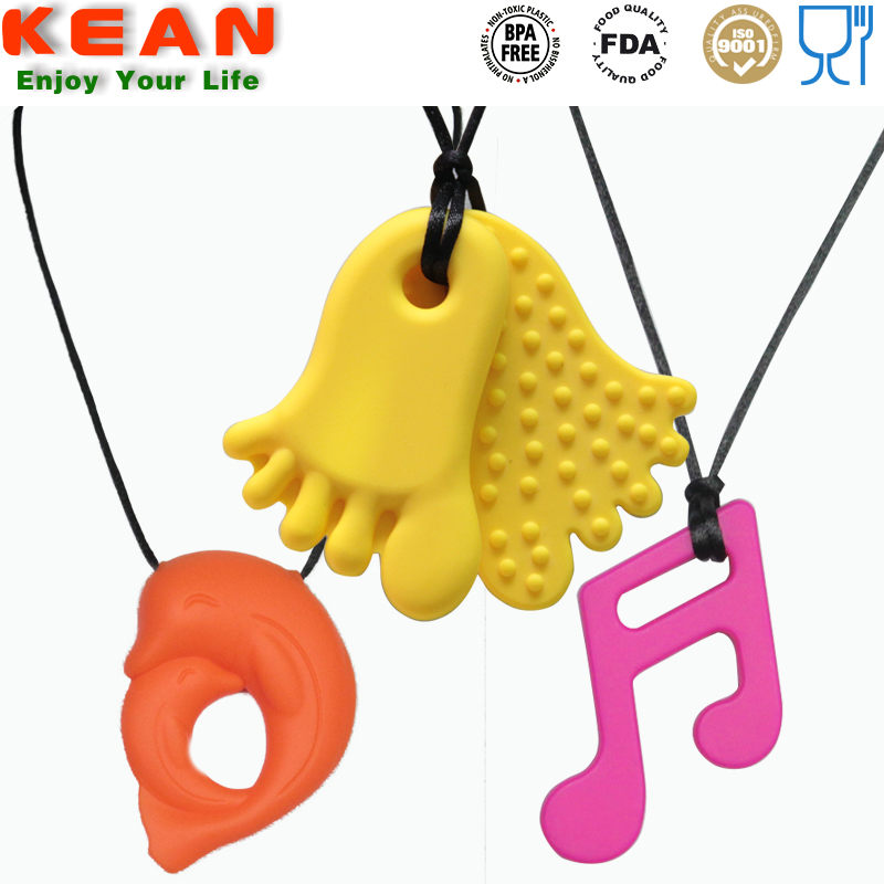 2016 Fashion baby teething large hole silicone plastic beads pendants
