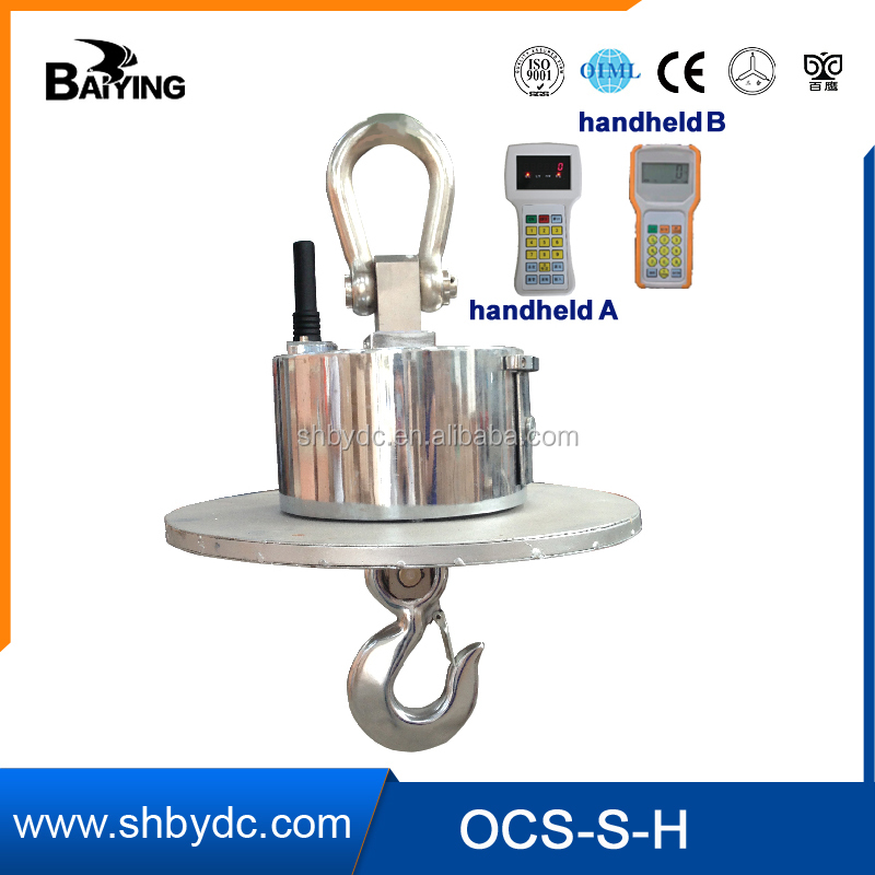 Heatproof Wireless transmission and high-temperature thermal insulation digital hook weighing scale crane scale OCX-S