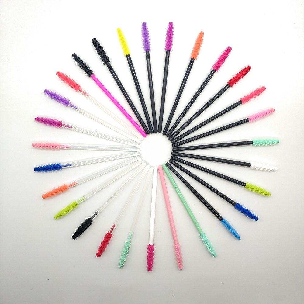 Alibaba.com / Disposable silicone  mascara wands  silicone makeup brush one-off makeup tools tower shape