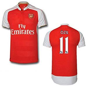 622542b41 Get Quotations · Arsenal Ozil  11 Home Kids Soccer Jersey Size Youth Large  ages 8-10