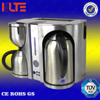 3 in 1 coffee machine stainless steel coffee maker toaster. Black Bedroom Furniture Sets. Home Design Ideas