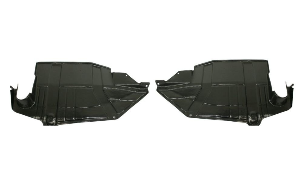 Evan-Fischer EVA20172057643 New Direct Fit Engine Splash Shield Set of 2 Plastic Engine Under Cover Replaces Partslink# NI1228122 NI1228123 Driver and Passenger Side for Nissan Quest