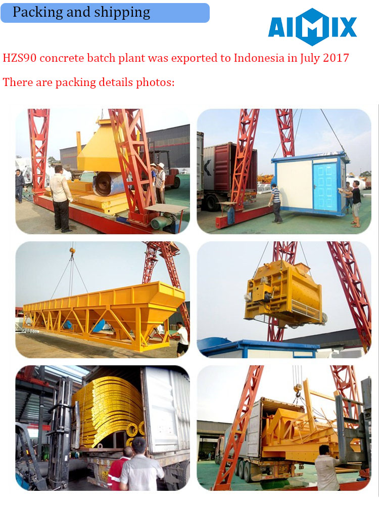 Factory supply HZS90 concrete mixing plant/ concrete batch plant price for sale