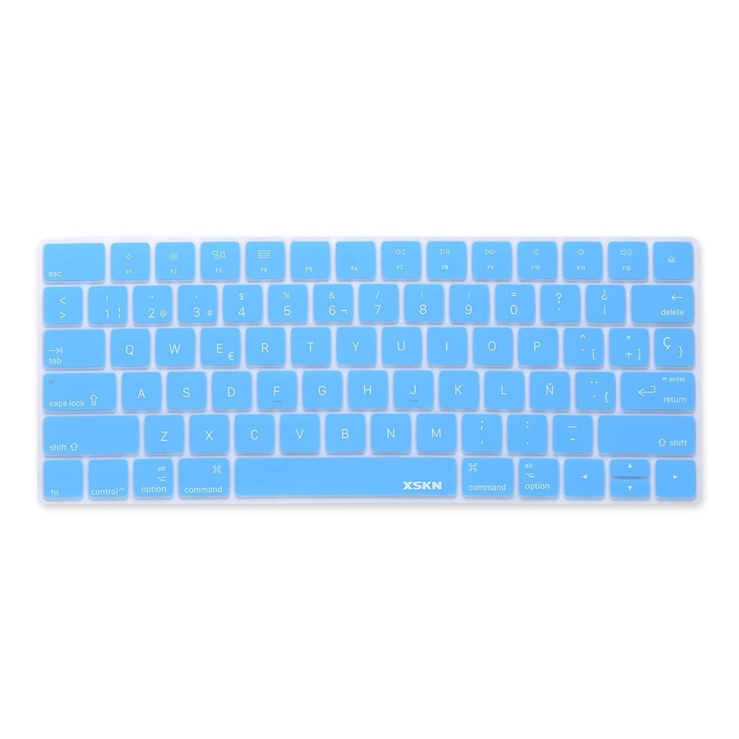 XSKN Spanish Language Ultra Thin Silicone Keyboard Skin Cover for Magic Keyboard 2015 Version US Layout (Blue)