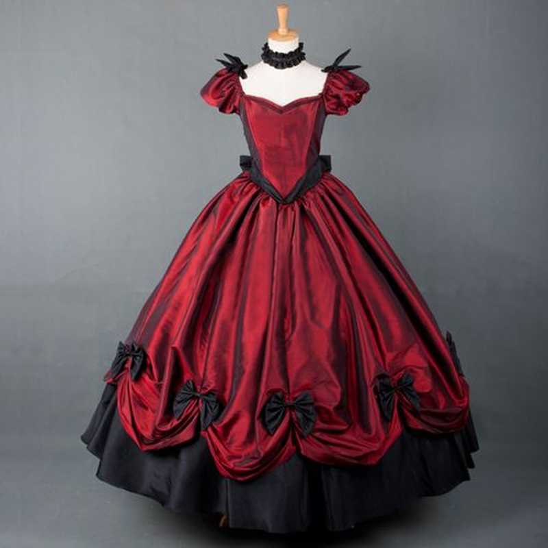 Plus Size Gothic Prom Dresses: Plus Size American Retro Victorian Lolita Dress Party