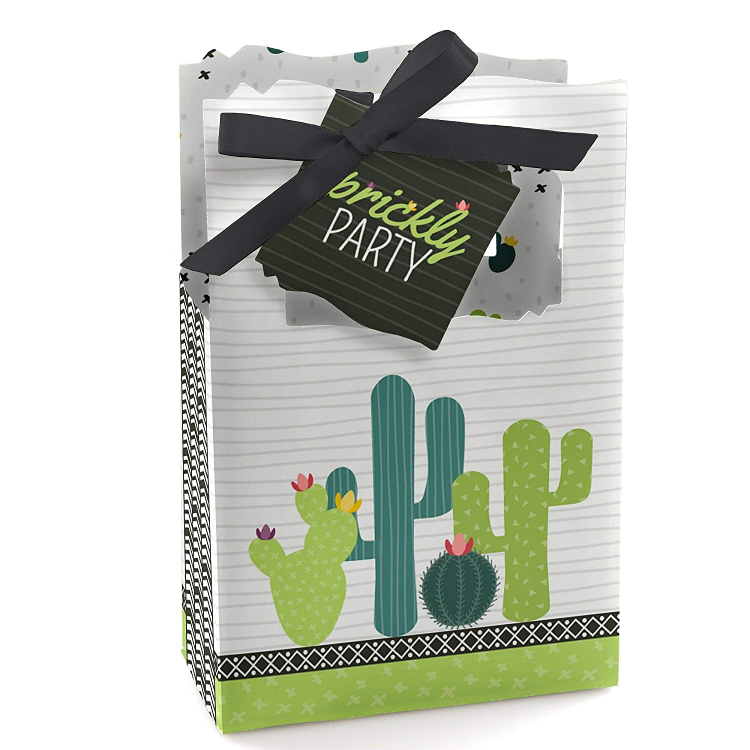 Big Dot of Happiness Prickly Cactus Party - Fiesta Party Favor Boxes - Set of 12