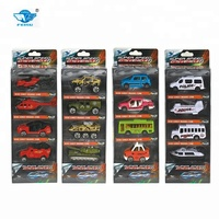 Hot sale colorful 1:64 mini metal toys die cast model car sets 4 types for play