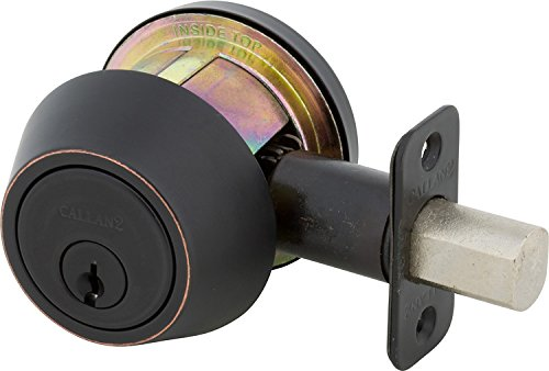Edge Oil Rubbed Bronze Delaney Hardware 210S-US10BE-G2-Double CALLAN2 Deadbolt Double Cylinder