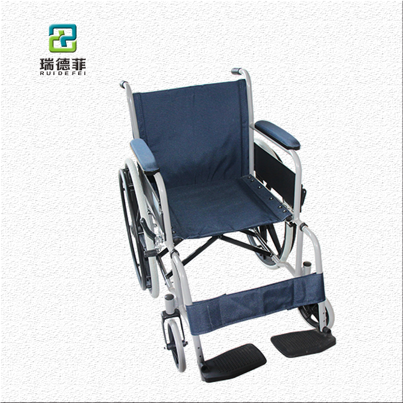 wheel chair folding steel manual wheelchairs sells well in Europe la silla de ruedas