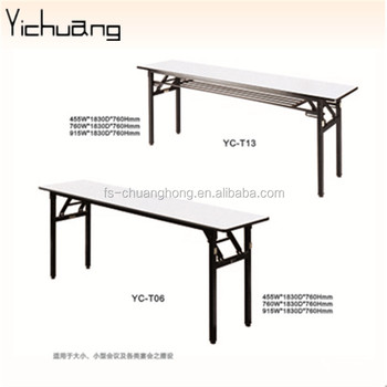 Conference Folding Oblong Table In Cyprus For Hotel Restaurant YC T150 02